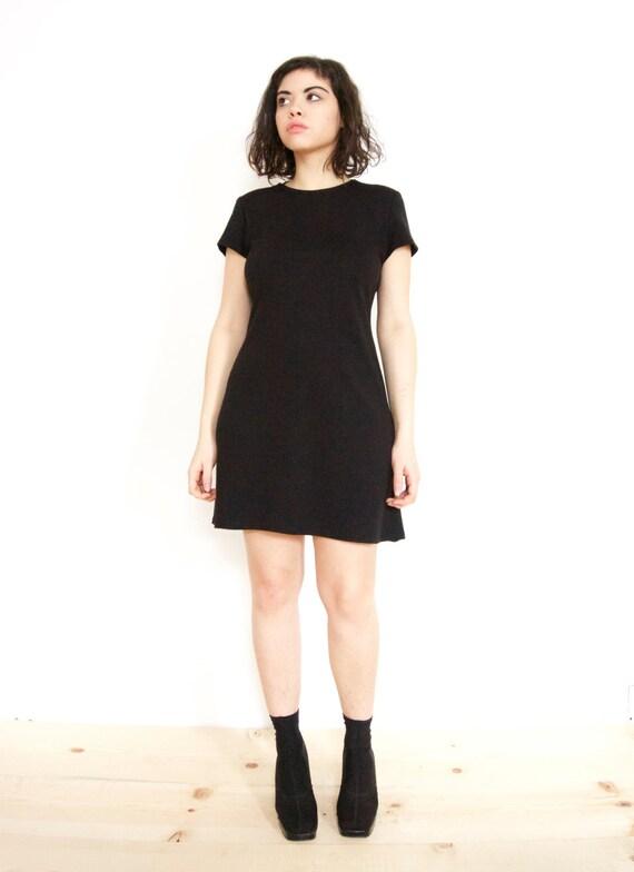 90s Little Black T Shirt Dress