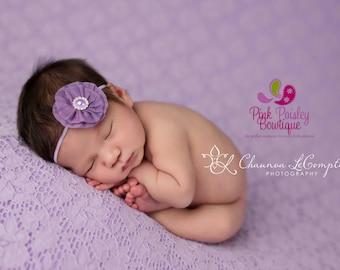 Baby Headband - Baby girl headband - Purple Headband - Baby Hairbow - Newborn Headbands- Baby hair accessories - Infant headbands