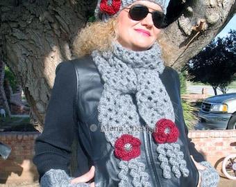 Crochet Pattern 083 Crochet Scarf - Mary Women Wrap Neck Warmer Neckwear Scarf Neckwear Shawl Ladies Winter Christmas Gift Crochet Pattern