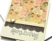 Romantic Birthday Card, Birthday Love Card, Birthday Cards With Flowers, Handmade Birthday Greeting Card, Stampin Up Cards