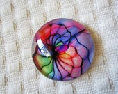 25mm Glass cabochon for wire wrapping and beading