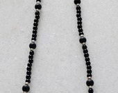Black tourmaline and Shungite necklace with sterling silver accents for men or women