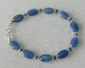 Kyanite bracelet for ladies with sterling accents