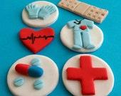 Nurse Toppers - Nurse Cupcake Toppers -  Healthcare Cupcakes - Healthcare - Cupcake Toppers - Medical Toppers