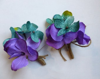 Hydrangea boutonniere, rustic country hydrangea boutonniere, Customizable, button hole, corsage