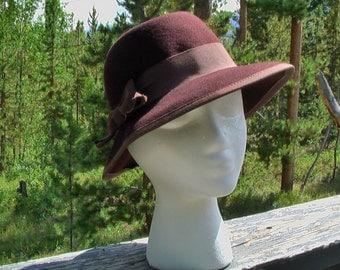 Vintage Betmar Brown Felted Wool Outdoor Indiana Jones Hat Sun Hat