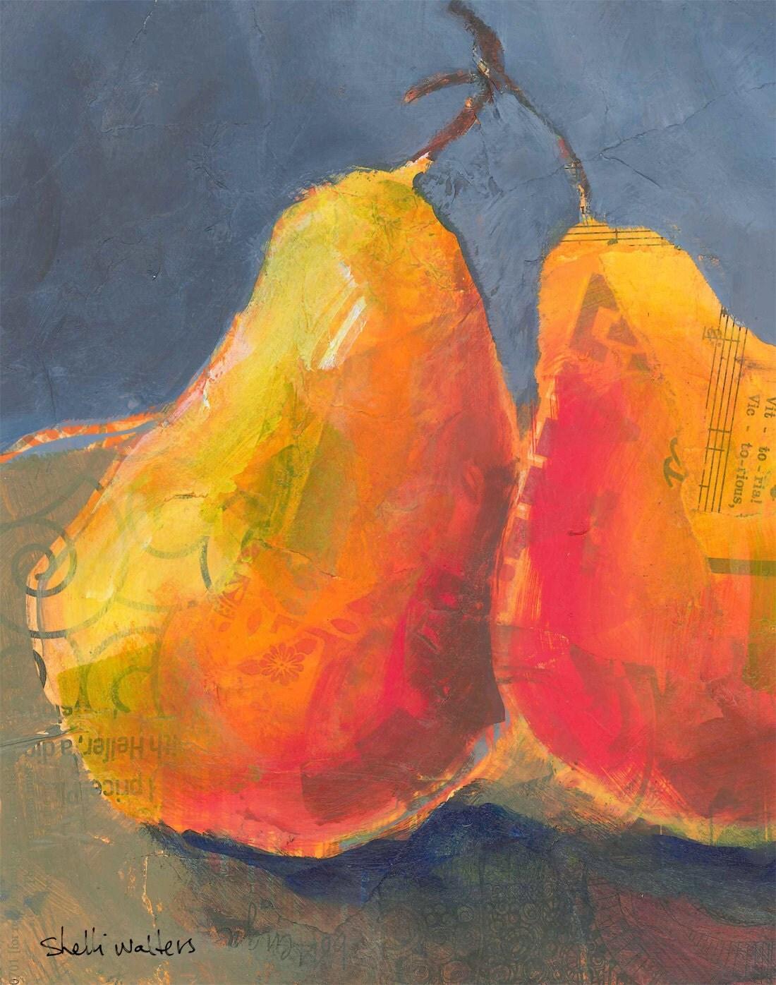 Pears Fruit Original Painting