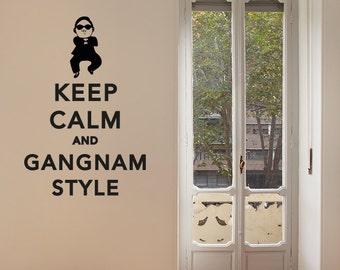 Keep Calm & Gangnam Style Removable Wall Sticker | Little Sticker Boy