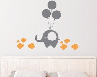 Elephant on Balloon Removable Wall Sticker | Little Sticker Boy