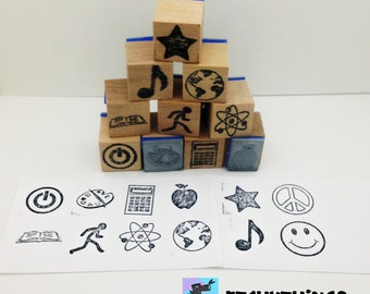 School Subjects Teacher Stamps - No Name
