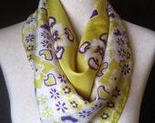 Large Square Bright Yellow Silk Scarf