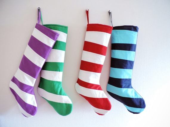 Personalized Christmas Stocking Personalized Stocking, Kids Stockings Family Stockings Modern Striped Holiday Colorful Fun Boy Girl Dr Seuss