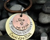 Personalized Key Chain - Mommy Keychain - My Greatest Blessings Call Me Mom - Gift for Mom -  Kids Names - Mother's Day Gift