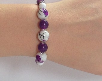 Purple Jade - Interchangeable Beaded Watch Band