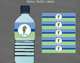 Super Why Birthday Water Bottle Labels--Custom Printable