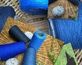 """organic 8 / 2 cotton weaving yarn 4 cone set """"Stellers Jay"""" : Saorisantacruz"""