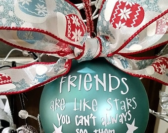 Friends ornament - gift for friend - Keepsake ornament - sentimental ornament - gift ideas - friends gift - special friend gift