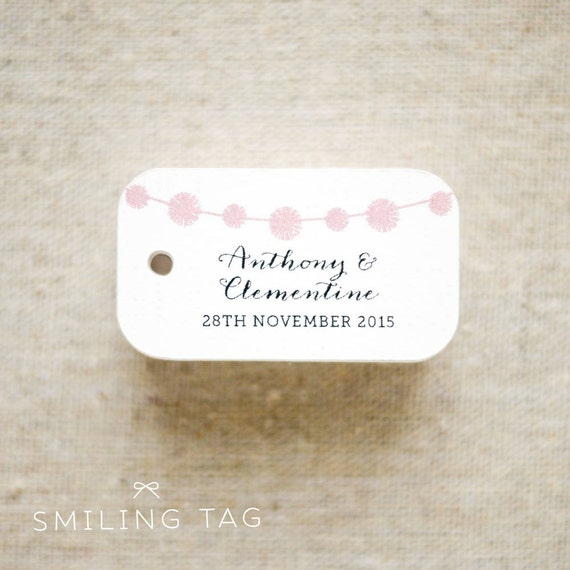 Bunting Personalized Gift Tags Wedding Favor Tags Thank