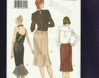 Vogue 9726 Sleek Pencil Skirts with Chevron Tier Details Sizes  14..16..18