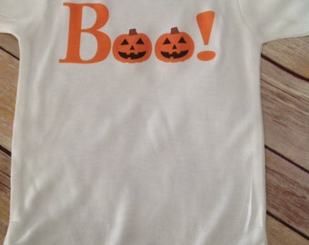 Boo! Baby One Piece (Custom Colors/Wording)