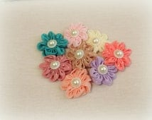 DIY Easter Flower for headbands and hair accessory making, 2 inch flower embellishment,spring pastel accent flower