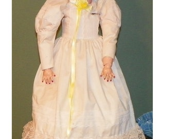 "Antique Large German DOLL 28"" KH Wallure Kley Hahn Bisque Composition sleepy eyes"