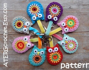 SALE - Crochet pattern OWL key ring by ATERGcrochet