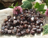 Red Brown Zircon Crystals x5, DT, Raw Natural, Crystal Gridding, Brazil ~ 9-12mm STONE of VIRTUE - Ancient Knowledge - Assists with Change