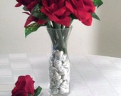 Flower Pens and Hershey's Kisses, Red Roses Bouquet, Flowers And Candy, Silk Flower Arrangements, Office Flowers