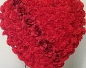 LARGE Silk Floral Heart , Gravesite Wreath, Destination Funeral, Silk Flowers, Memorial Flowers, Cemetery Flowers