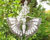 VINTAGE BUTTERFLY Tree Jewelry Christmas Ornament