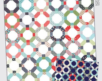 """Cheerio Quilt - Printed Pattern - 67.5"""" x 78.5"""" - Thimble Blossoms by Camille Roskelley of Bonnie and Camille"""