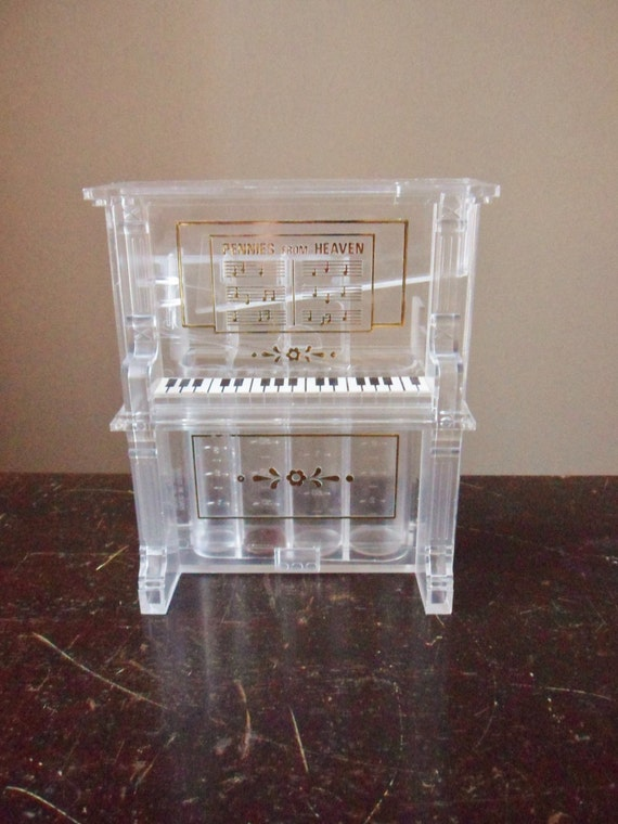 Piano bank pennies from heaven bank coin sorter - Sorting coin bank ...