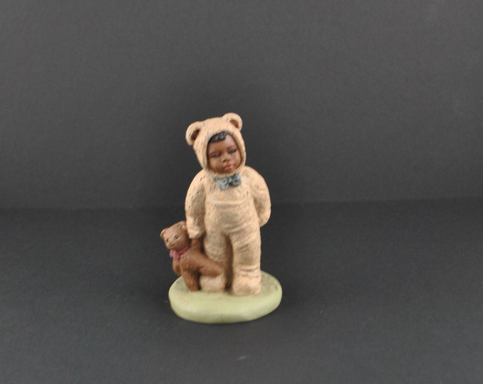 Vintage Miss Martha Holcombe, All God's Children, Bo, #80, 1994, Retired, Teddy Bears, Figurine, Handcrafted, Knick Knack, No Box or COA
