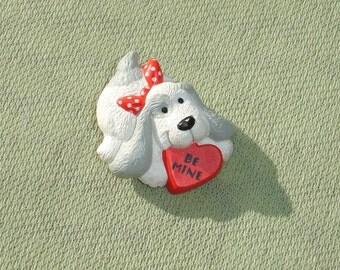 Be Mine Dog Valentine Pin - Vintage Hallmark