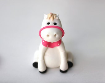 Fondant Cake Topper - Whimsical 3D Fondant Horse Pony Cake Topper