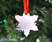 Personalized Polymer Clay Snowflake Ornament