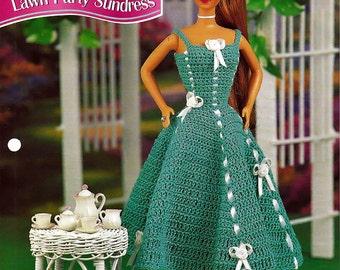Lawn Party Sundress  Annies Fashion Doll Crochet Pattern Club FCC05-03