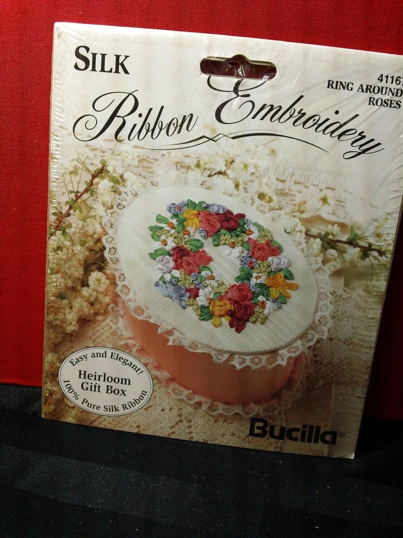 Ring around the roses bucilla silk ribbon embroidery kit no