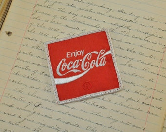 Vintage Coca Cola Patch - Coke patch - vintage coke patch - sew on coke patch