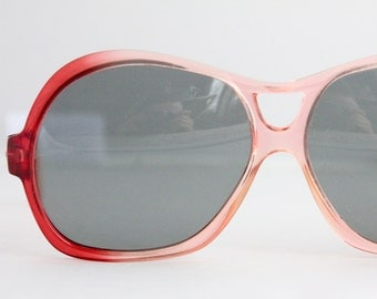 Vintage 70's Oversized Cool Ray Red Aviator Sunglasses