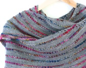 Colorful but Simple Shawl Knitting Pattern
