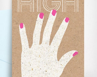 HIGH 5 Greeting Card