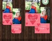INSTANT Download Valentine Mini Card - Format: Millers Lab & Business Card - V11