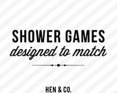 Party or Shower GAMES - Add on - Made to Match - Baby Shower or Bridal Shower Games - Digital or Printed