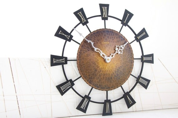Vintage Kienzle Wall Clock Starburst Sunburst Germany