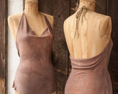 MEDIUM. Nasima Halter Camisole in Mauve Sky.