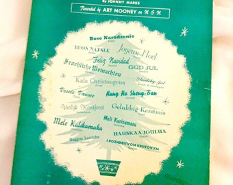 "Vintage Sheet Music ""A Merry Merry Christmas (to You)""  1959"