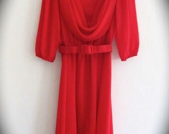 Super Hot Red Vintage Dress
