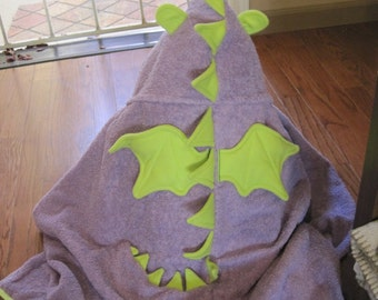 Infant Dragon Hooded Towels with 2 wash cloths - Free Personalization